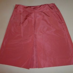 J. Crew Size 4 Solid Rose Silk A-Line Skirt
